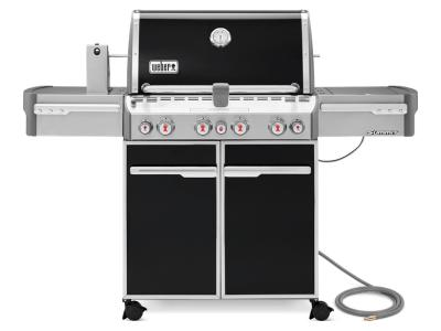 """66"""" Weber Summit Series 4 Burner Natural Gas Grill With Side Burner In Black - Summit E-470 NG"""