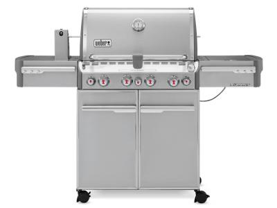 """66"""" Weber Summit Series 4 Burner Liquid Propane Grill With Stainless Steel Side Tables - Summit S-470 LP"""
