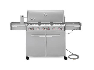 """74"""" Weber NaturalGas Grill in Stainless Steel  - Summit S-670 NG"""