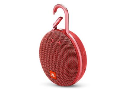 JBL A full-featured waterproof portable Bluetooth speaker with surprisingly powerful sound.-JBLCLIP3RED