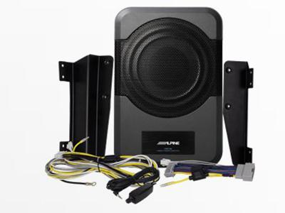 Alpine 8-inch Compact Powered Subwoofer System for 2011-Up 4-door Jeep Wrangler - PWE-S8-WRA