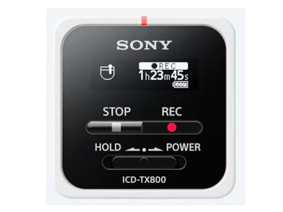 SONY DIGITAL VOICE RECORDER WITH REMOTE - ICDTX800/W