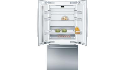 """36"""" Bosch Benchmark Built-In French Door Refrigerator with Home Connect - B36BT930NS"""