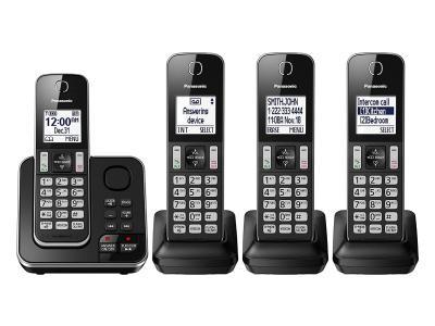 Panasonic Digital Cordless Answering System With 4 Handsets - KXTGD394B