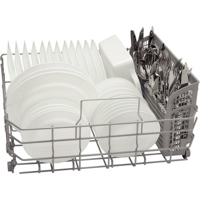 """24"""" Bosch Recessed Handle Ascenta Dishwasher In Stainless Steel - SHE3AR75UC"""