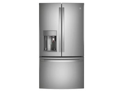 "36"" GE Profile 27.7 Cu. Ft. Smart Fingerprint Resistant French-Door Refrigerator - PFE28PYNFS"