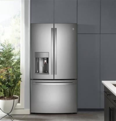 "36"" GE Profile 27.7 Cu. Ft. Smart Fingerprint Resistant French-Door Refrigerator - PFE28PYNFS"