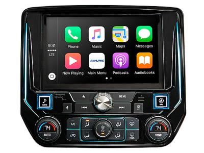"""9"""" Alpine Restyle Mech-Less In-Dash System With Apple CarPlay & Android Auto for Silverado & Sierra - I209-GM"""