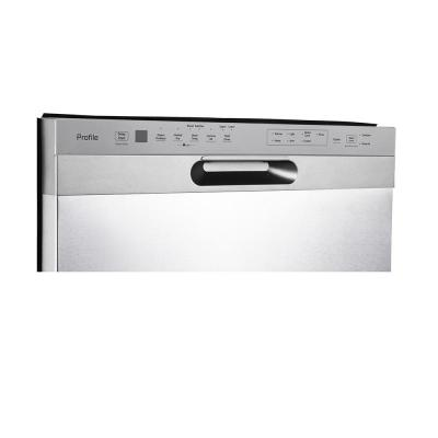 """24"""" GE Profile Built-In Front Control Dishwasher in Stainless Steel - PBF665SSPFS"""