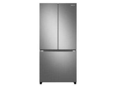 """33"""" Samsung French Door Refrigerator With Built-In Look In Fingerprint Resistant Stainless Steel - RF18A5101SR"""