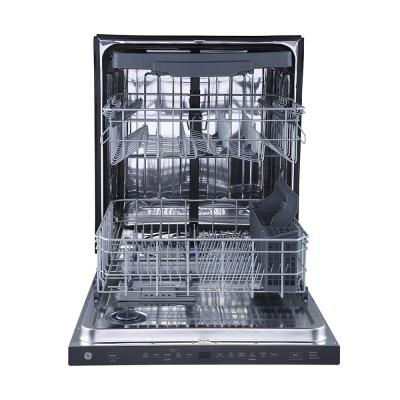"""24"""" GE Built-In Top Control Dishwasher with Stainless Steel Tall Tub in Stainless Steel - GBP655SSPSS"""