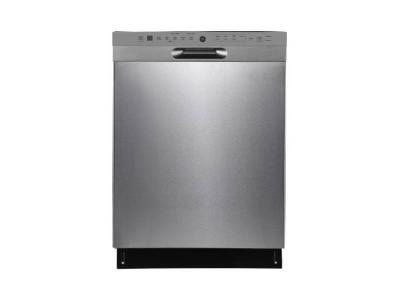 """24"""" GE Built-in Front Control Dishwasher With Stainless Steel Tall Tub in Stainless Steel - GBF655SSPSS"""