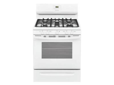 """30"""" Frigidaire 5.0 Cu. Ft. Free Standing Gas Range With 5 Sealed Burners - FCRG3052AW"""