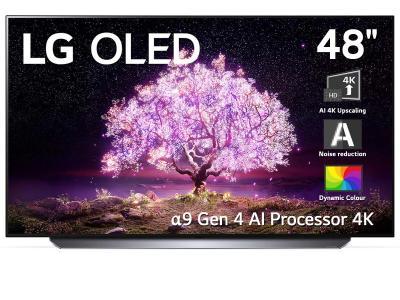 "48"" LG OLED48C1 4K Smart OLED TV With AI ThinQ"