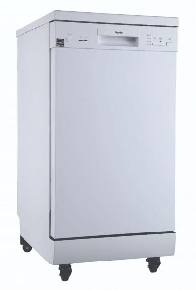 """18"""" Danby Portable Dishwasher with 4 Wash Cycles, Quick Wash in White - DDW1805EWP"""