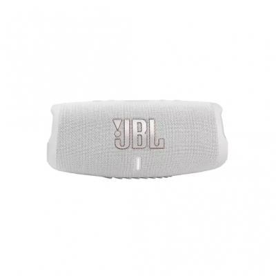 JBL Charge 5 Portable Waterproof Speaker With Powerbank In White - JBLCHARGE5WHTAM