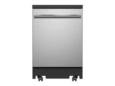 """24"""" GE Interior Portable Dishwasher with Sanitize Cycle in Stainless Steel - GPT225SSLSS"""