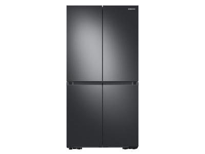 """36"""" Samsung 22.8 Cu. Ft. French Door Refrigerator With Beverage Center In Black Stainless Steel - RF23A9671SG"""