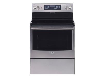 """30"""" GE Free Standing Electric Self Cleaning Convection Range - JCB830SKSS"""
