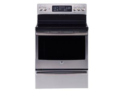 """30"""" GE Free Standing Electric Self Cleaning Convection Range - JCB860SKSS"""
