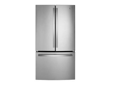 "36"" GE Energy Star 27.0 Cu. Ft. Fingerprint Resistant French-Door Refrigerator - GNE27EYMFS"