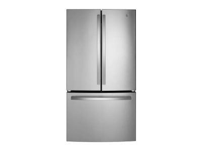"36"" GE Energy Star  27.0 Cu. Ft. Fingerprint Resistant French-Door Refrigerator - GNE27JYMFS"
