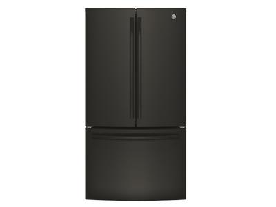 "36"" GE Bottom mount French door refrigerator, 26.7 cu.ft - GNE27JGMBB"