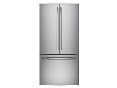 "33"" GE Energy Star 18.6 Cu.ft. Counter Depth French Door Refrigerator W/ Factory Installed Icemaker - GWE19JSLSS"