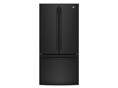 "33"" GE Energy Star 18.6 Cu.ft. Counter Depth French Door Refrigerator W/ Factory Installed Icemaker - GWE19JGLBB"