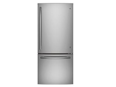 "30"" GE 20.9 Cu. Ft. Bottom-Freezer Refrigerator With Factory Installed Ice Maker - GDE21ESKSS"