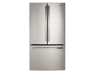 "36"" GE 26.7 Cu. Ft. Bottom Mount French Door Refrigerator - GNE27ESMSS"