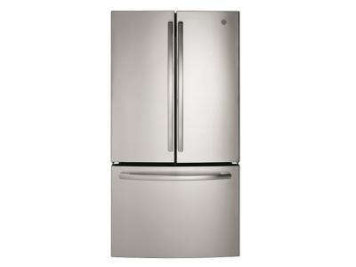 "36"" GE Bottom mount French door refrigerator, 26.7 cu.ft - GNE27JSMSS"