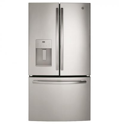 "36"" GE 25.5 Cu. Ft. Bottom Mount French Door Refrigerator - GFE26JSMSS"