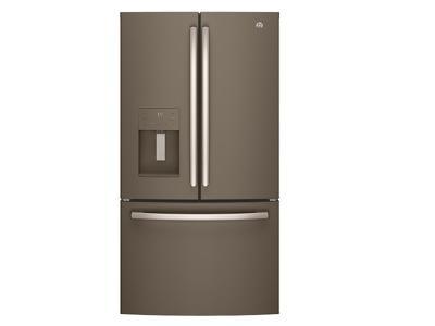 """36"""" GE 25.5 Cu. Ft. Bottom Mount French Door Refrigerator - GFE26JMMES"""
