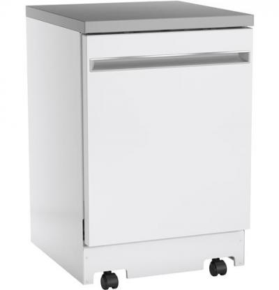 """24"""" GE Portable Dishwasher  With Fully Integrated Controls And Energy Star Qualified - GPT225SGLWW"""