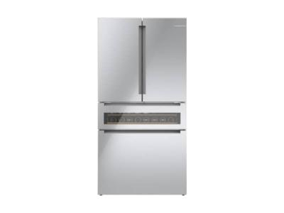 "36"" Bosch French Door Refrigerator Freezer Located Ice Dispenser - B36CL81ENG"