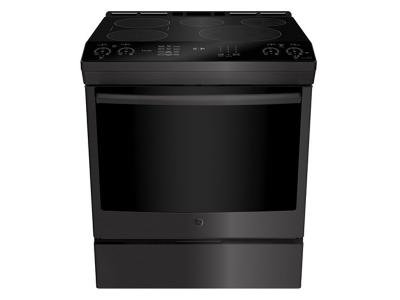 """30"""" GE Profile Slide In Front Control Induction 5.3 cu ft Self-Cleaning Range - PCHS920BMTS"""