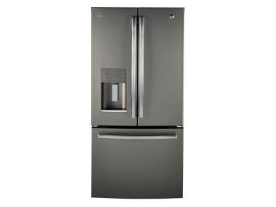"33"" GE Profile Energy Star 17.5 Cu. Ft. Counter Depth French-door Ice & Water Refrigerator - PYE18HMLKES"