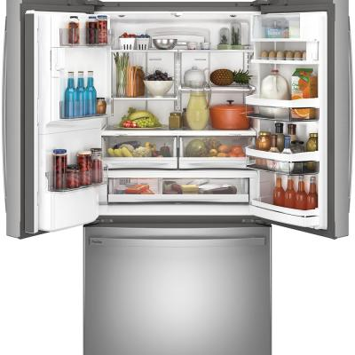"""36"""" GE Profile 22.1 Cu. Ft. Counter-depth French-door Refrigerator - PYE22PYNFS"""