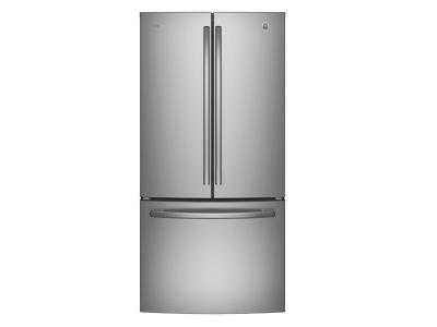 """33"""" GE Profile 24.5 Cu. Ft. French Door Bottom-Mount With Factory Installed Icemaker - PNE25NSLKSS"""