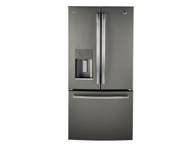 """33"""" GE Profile 23.5 cu.ft. French Door Bottom-Mount, with Space Saving Icemaker - PFE24HMLKES"""