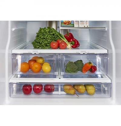"""33"""" GE Profile 23.5 Cu. Ft. French Door Bottom-Mount With Space Saving Icemaker - PFE24HSLKSS"""