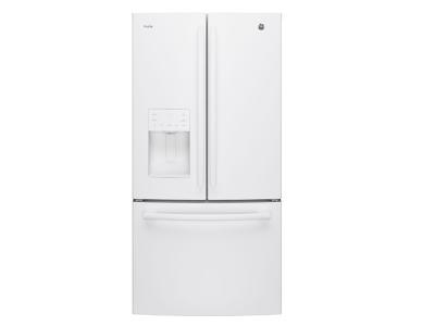 """33"""" GE Profile 23.8 cu.ft. French Door Bottom-Mount, with Space Saving Icemaker - PFE24HGLKWW"""