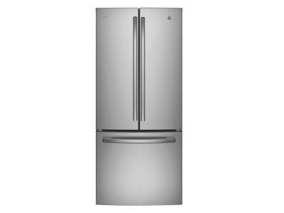 """30"""" GE Profile 20.8 Cu. Ft. French Door Bottom-Mount With Factory Installed Icemaker - PNE21NSLKSS"""