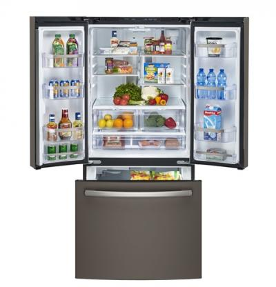 """33"""" GE Profile 24.8 cu.ft. French Door Bottom-Mount, w/Factory Installed Icemaker - PNE25NMLKES"""