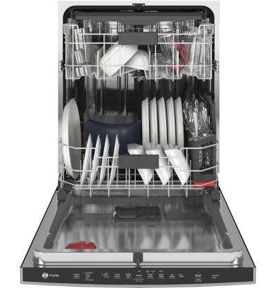 """24"""" GE Profile Stainless Steel Interior Dishwasher with Hidden Controls - PDT715SYNFS"""