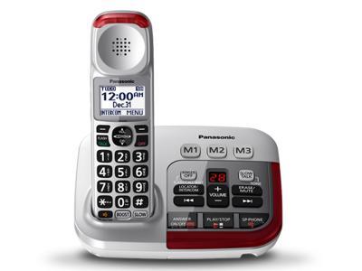 Panasonic Amplified Cordless Telephone with Digital Answering Machine - KX-TGM490
