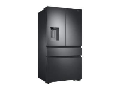 "36"" Samsung 23 cu. ft. Counter Depth 4-Door French Door Refrigerator in Black Stainless Steel - RF23M8070SG"