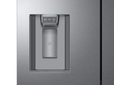 "36"" Samsung 23 cu. ft. Counter Depth 4-Door French Door Refrigerator in Stainless Steel - RF23M8070SR"