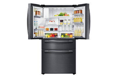 Samsung French Door 24.7 cu. Ft. Refrigerator with Twin Cooling Plus,  Black Stainless RF25HMEDBSG